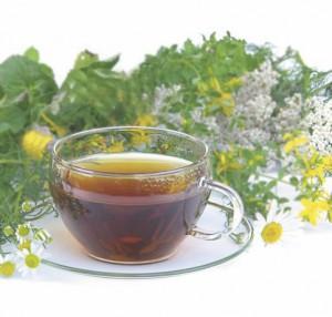 Eine tasse basischer Tee